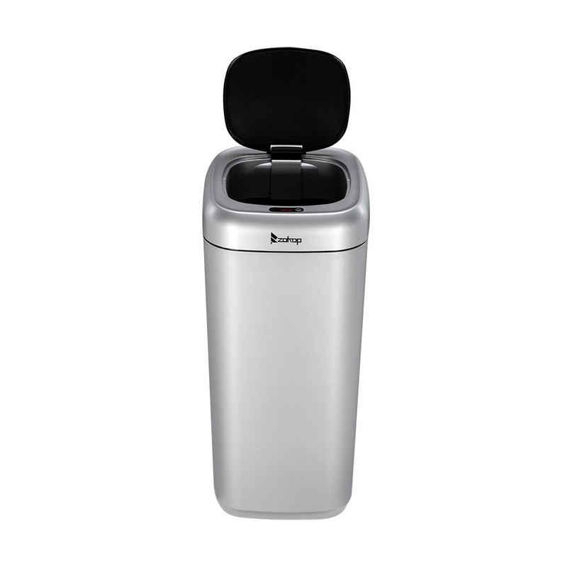 Fangqi Mülleimer »Zokop 35L Smart Motion Sensor Automatischer Mülleimer Abfalleimer Silber«, Intelligentes Sensorsystem