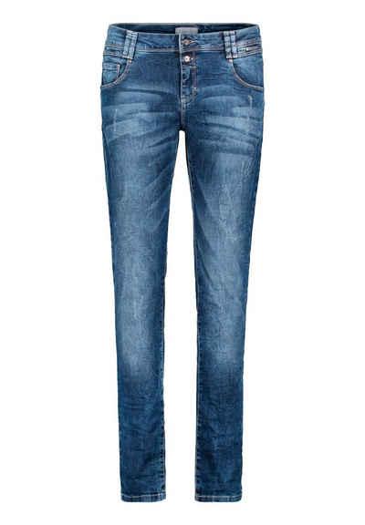 Cartoon 5-Pocket-Jeans »mit Reißverschluss« Used-Waschung