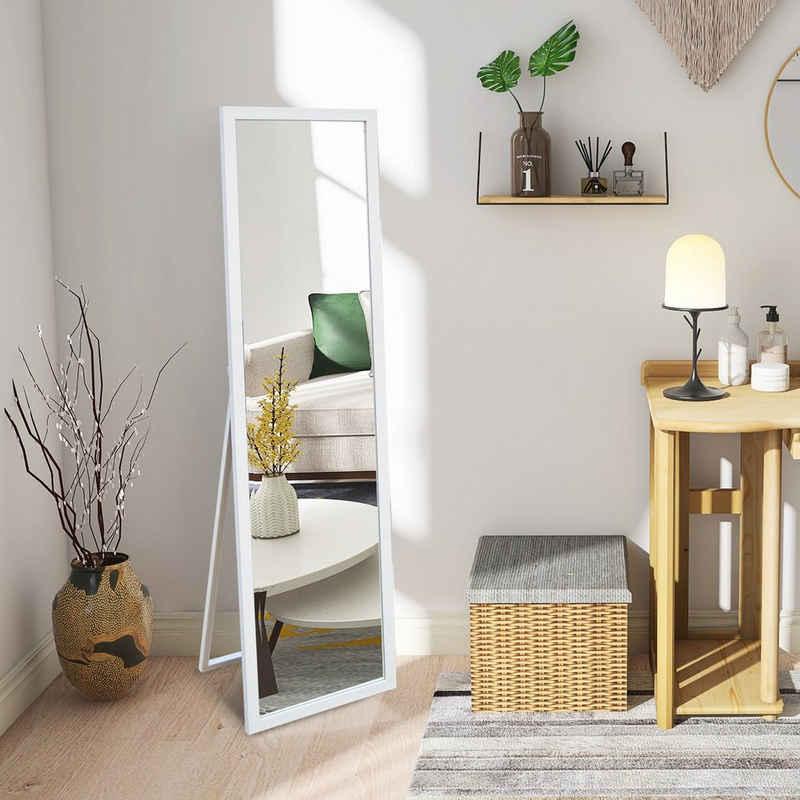 PHOEBE CAT Standspiegel, Ganzkörperspiegel mit Holzrahmen und Haken, als HD Wandspiegel oder Ankleidespiegel geeignet, kippbar, 140x50 cm