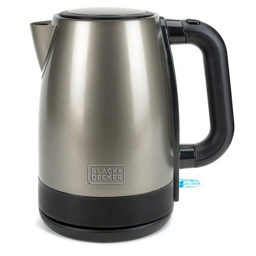 Black + Decker Wasserkocher BXKE2201E 2200 Watt Edelstahl 1,7 Liter, 1.7 l