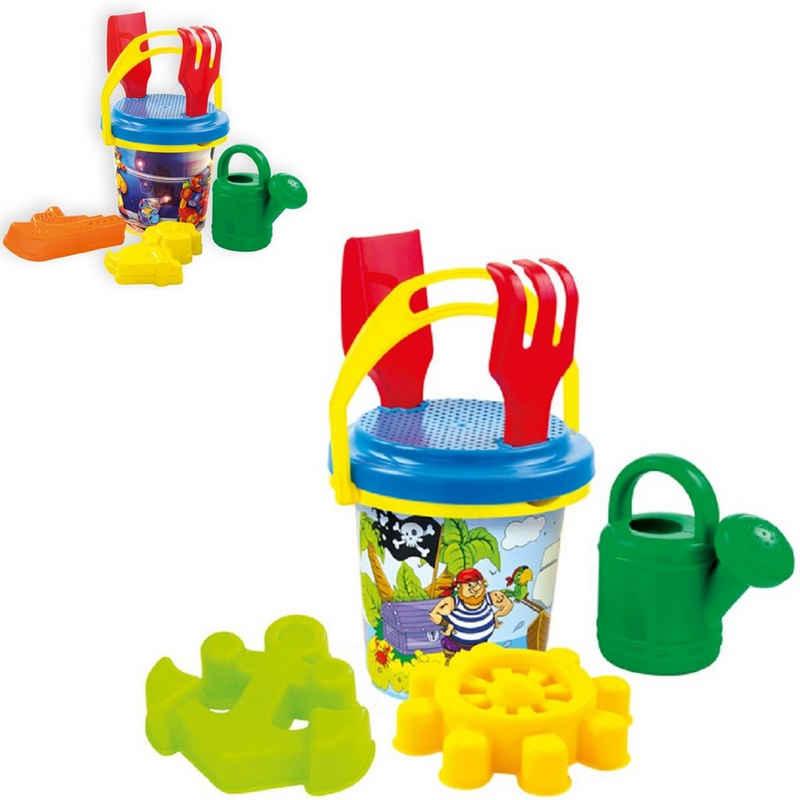 Mochtoys Sandform-Set »Sandspielzeug Set 10413«, mit Eimer, Sandformen, Sieb, Gießkanne, Schaufel