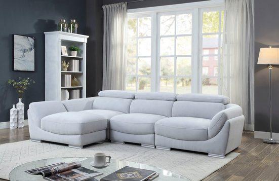 ATLANTIC home collection 3-Sitzer, Hocker als Ecke stellbar