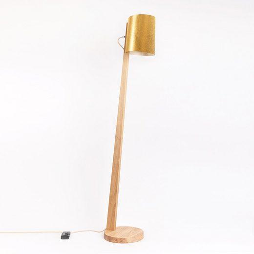 Almut-Leuchten Stehlampe »Holz mit Schirm Zylindrisch 167cm«