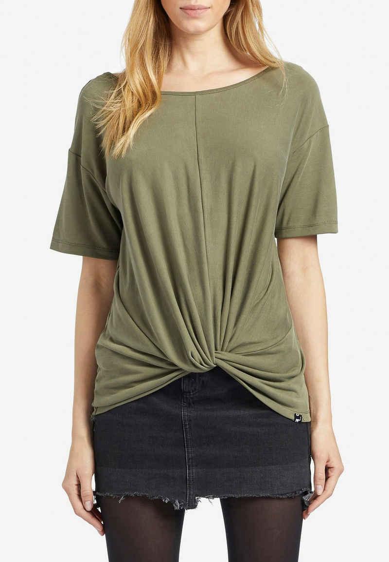 khujo T-Shirt »KEESA« mit Streifenmuster