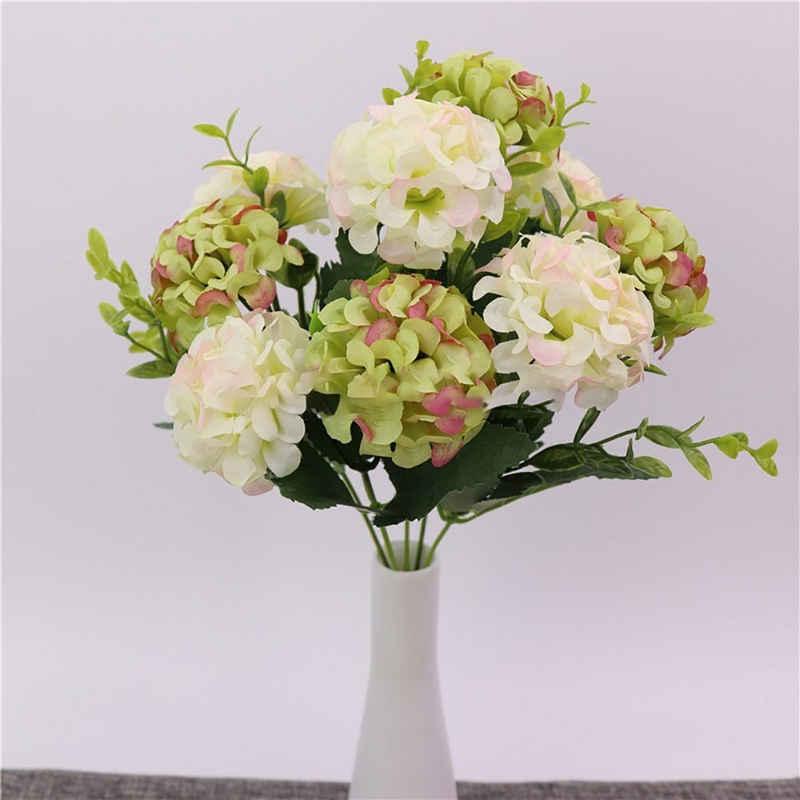 Kunstblume »10 Köpfe Künstliche Blumen Hortensie 30cm Kunstblumen Girlande Hochzeit Garten Party Deko« Hortensie, Baesset, Höhe 30 cm