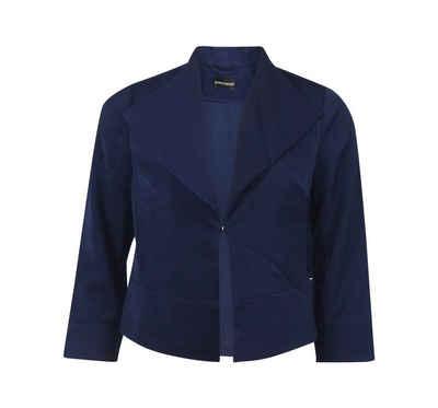 Bruno Banani Kurzblazer Bruno Banani Damen Blazer blau Kurzblazer Kurzjacke Casual Sakko Business Jacke