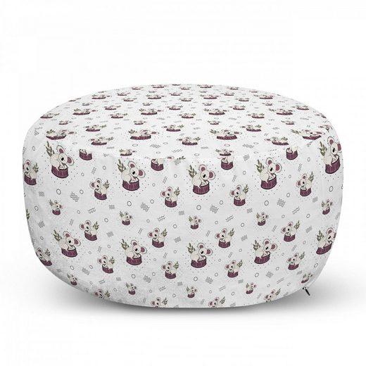 Abakuhaus Pouf »dekorative weiche Fußstütze und Reißverschlusshülle osmanisches Wohn-und Schlafzimmer«, Gekritzel Bär Koalas Muster Kreise