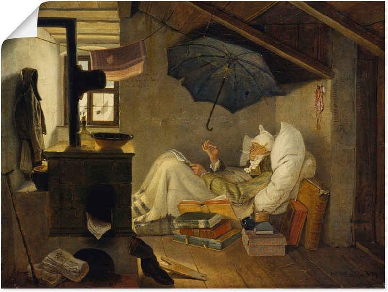 Artland Wandbild »Der arme Poet. 1839«, Mann (1 Stück), in vielen Größen & Produktarten -Leinwandbild, Poster, Wandaufkleber / Wandtattoo auch für Badezimmer geeignet