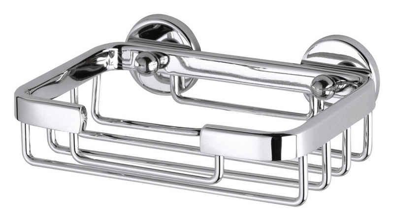 tesa Seifenspender »Aluxx Seifenkorb, Aluminium, verchromt«, (1-tlg), Kein Bohren, Rostfrei