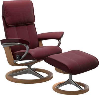 Stressless® Relaxsessel »Admiral« (Set, Relaxsessel mit Hocker), mit Hocker, mit Signature Base, Größe M & L, Gestell Eiche