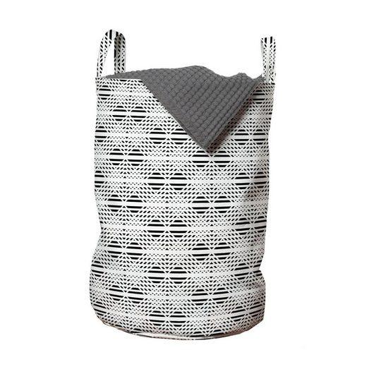 Abakuhaus Wäschesack »Wäschekorb mit Griffen Kordelzugverschluss für Waschsalons«, Gitter Gestreifte Zusammenfassung Chevron