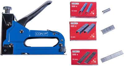Connex Handtacker »Profi-Tacker«, Passend für Tackerklammern in den Größen 4 - 14 mm; für U-Klammern: 10 - 14 mm; für Nägel: 8 - 14 mm