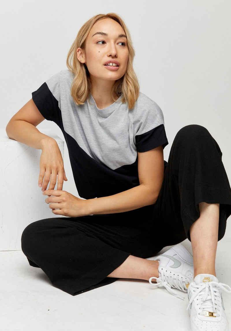 MAZINE T-Shirt »Mina« im Kontrast-Design