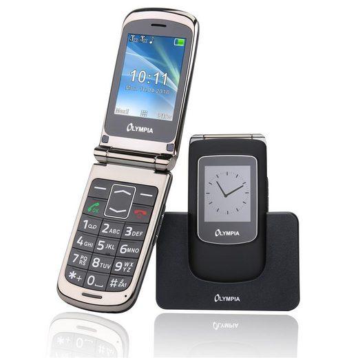 OLYMPIA OFFICE Style View Großtasten-Mobiltelefon Seniorenhandy (Rentner, Senioren Handy, Klapphandy, große Tasten, Dual Display, SOS Notruf-Taste, Bildkurzwahl, schwarz - 2281)