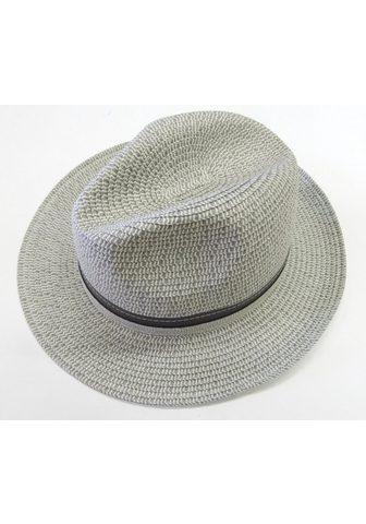Chaplino šiaudinė skrybėlė su schickem Lederban...