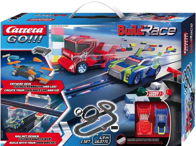 Carrera® Autorennbahn »Carrera GO!!! - Build 'n Race - Racing Set 4.9« (Streckenlänge 4,9 Meter)