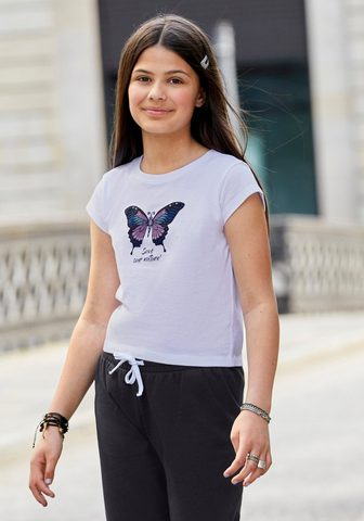 KIDSWORLD Marškinėliai in kürzerer gerader Form