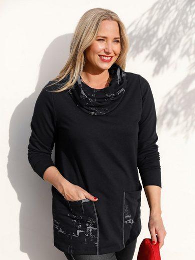MIAMODA Sweatshirt mit halsfernem Kragen