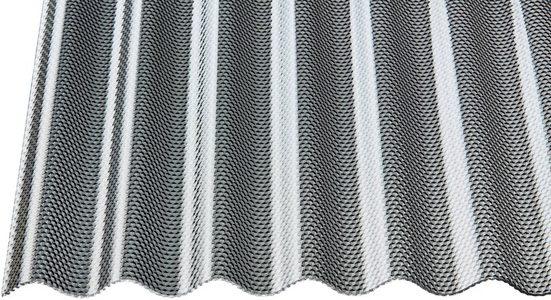 GUTTA Wellplatte »GUTTACRYL«, Acryl graphit, Wabe, BxL: 104x350 cm