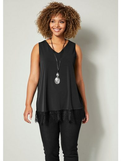 Angel of Style by Happy Size Longtop mit Spitze