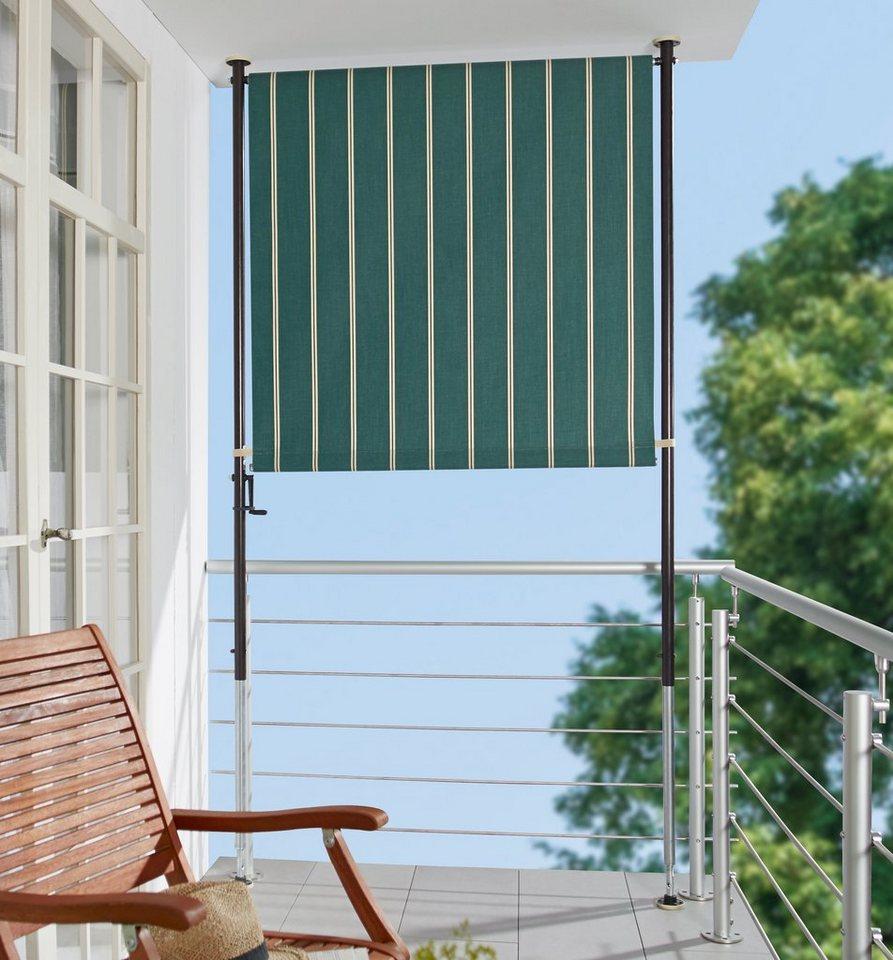Angerer Freizeitmobel Balkonsichtschutz Grun Weiss Bxh 120x225 Cm