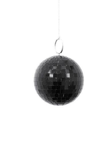 SATISFIRE Discolicht »Spiegelkugel 10cm - schwarz - Diskokugel Echtglas - 7x9mm Spiegel - DEKO Serie«