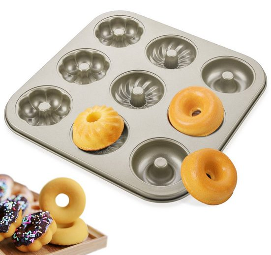 Homewit Backform »9er Muffin Backform Kuchenform«, (Set 1-tlg), Metall Cupcake Gussform Antihaftend Donut DIY