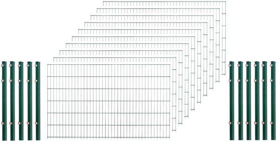 Arvotec Doppelstabmattenzaun, (Set), 123 cm hoch, 10 Matten für 20 m, 11 Pfosten