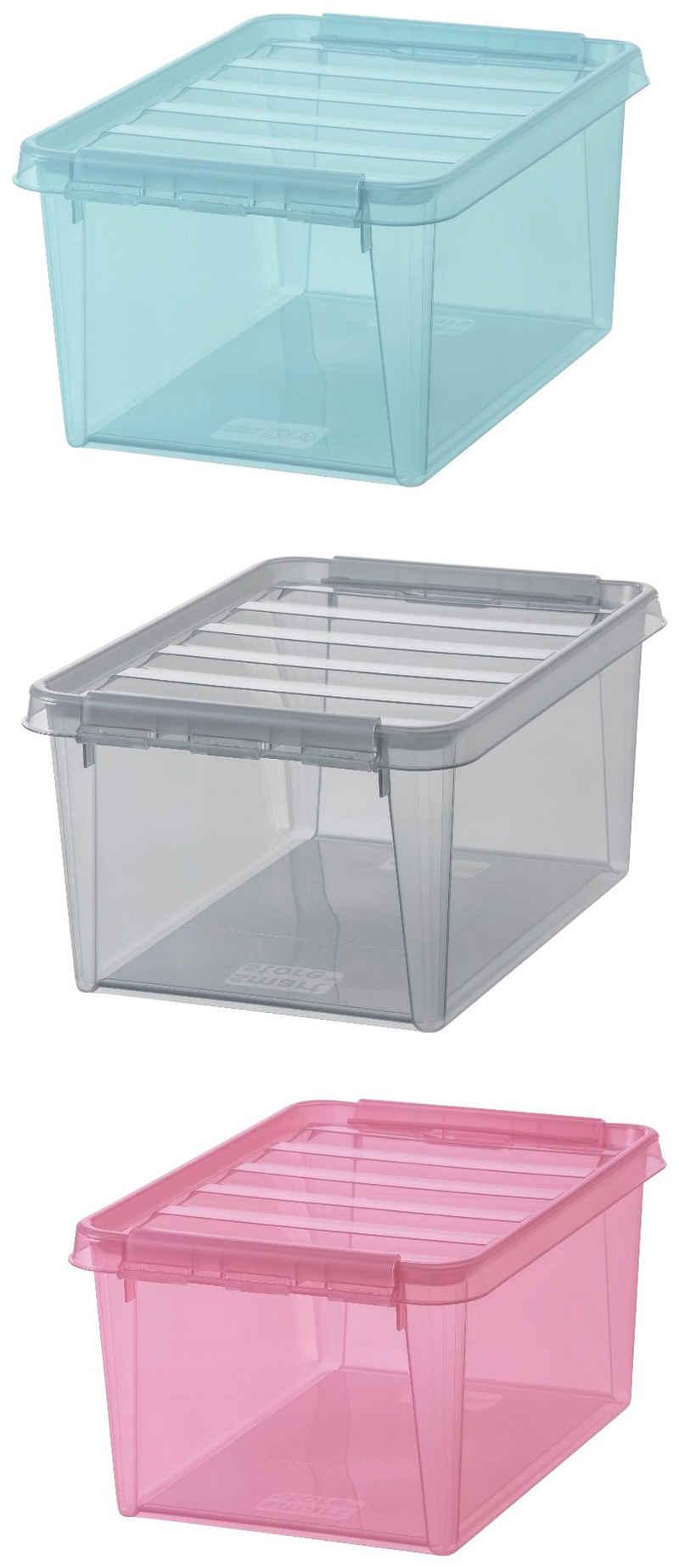 Orthex Aufbewahrungsbox »Smart Store Colour 15« (Set, 3 Stück), je 14 Liter