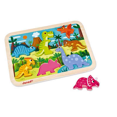 Janod Puzzle »Chunky Puzzle Dinosaurier 7 Teile (Holz)«, 7 Puzzleteile