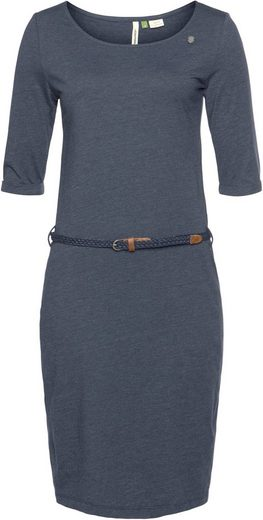 Ragwear Plus Shirtkleid »TAMILA ORGANIC PLUS« (2-tlg., mit abnehmbarem Gürtel) umweltfreundlich dank Einsatz von Recycling Polyester