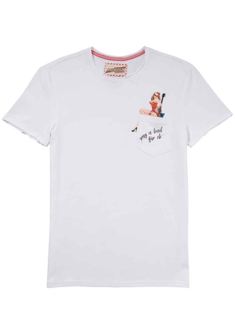 Andreas Gabalier Kollektion Trachtenshirt mit coolem Pin-Up Motiv