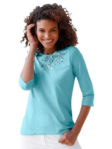 Classic Basics Shirt mit farbenfrohem Konfetti-Druck