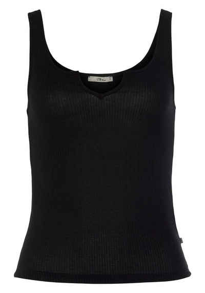 LTB Shirttop »PACEMO« mit Aussparung am Ausschnitt