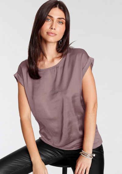soyaconcept Shirtbluse »SC-THILDE6« Leicht glänzender Satin im Vorderteil