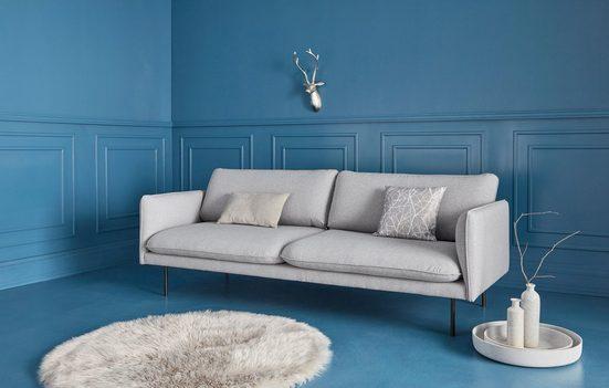 COUCH♥ 3-Sitzer »Levon«, in moderner Optik, mit Metallbeinen, COUCH Lieblingsstücke