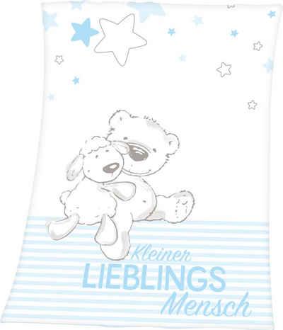 Babydecke »Kleiner Lieblingsmensch«, Baby Best, mit tollem Motiv und Schriftzug