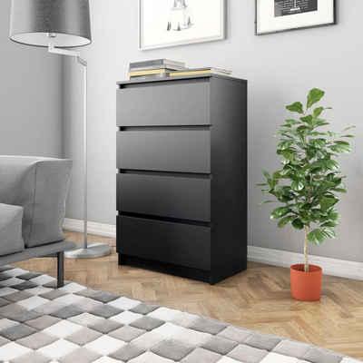 vidaXL Sideboard »vidaXL Sideboard Schwarz 60×35×98,5 cm Spanplatte«