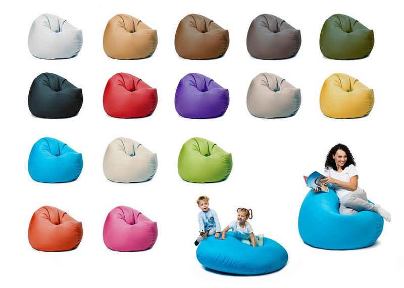 sunnypillow Sitzsack »Sitzsack mit Styropor Füllung Outdoor & Indoor für Kinder und Erwachsene«, XL Sitzsack mit Styropor Füllung 100 cm Durchmesser 2-in-1 Funktionen zum Sitzen und Liegen Outdoor & Indoor für Kinder & Erwachsene viele Farben und Größen zur Auswahl