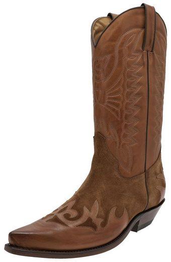FB Fashion Boots »CARLOS Cognac Westernstiefel Braun« Cowboystiefel