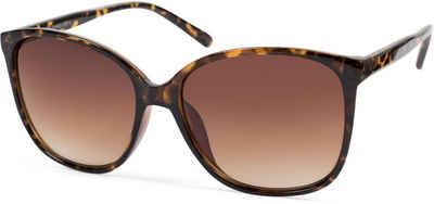styleBREAKER Sonnenbrille »Sonnenbrille mit ovalen Oversize Gläsern« Getönt