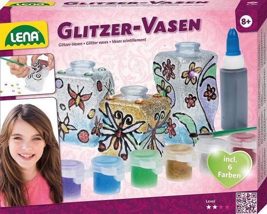 Lena® Kreativset »Glitzer-Vasen«