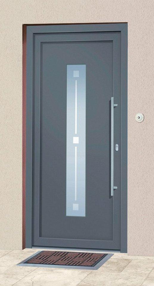 Roro Aluminium-Haustür »Andorra« BxH: 100x200 cm anthrazit online kaufen    OTTO