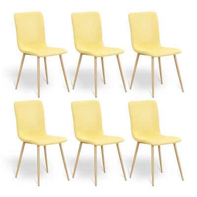 HomeGuru Esszimmerstuhl, Modern, Leinen, 6er Set