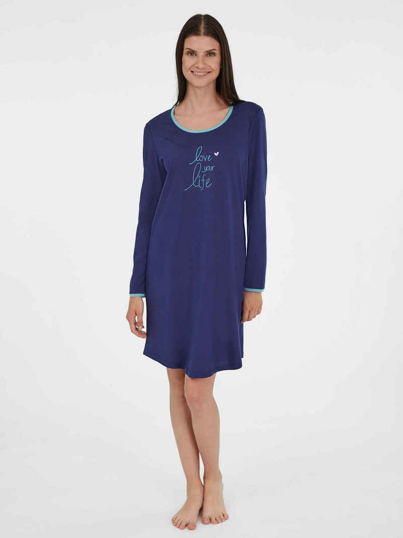 Ringella Nachthemd »Langarm-Nachthemd, Länge 95cm« (1-tlg)