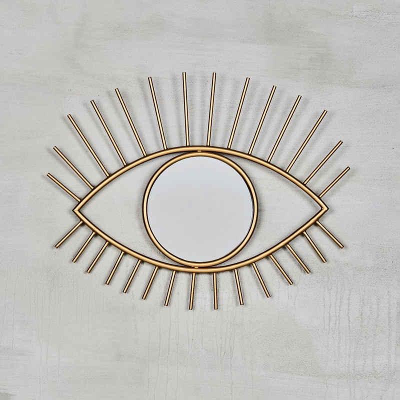 carla&marge Dekospiegel »Horette«, Spiegel mit goldfarbenem Eisenrahmen