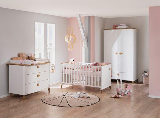 Babymöbel-Set »Lotte & Fynn«, (4-St., Babybett, Wickelaufsatz und Wickelkommode, 2-türiger Schrank), Steiff by Paidi
