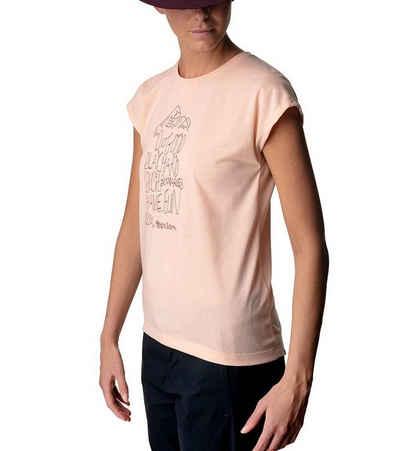 Houdini T-Shirt »HOUDINI Big Up Message Rundhals-Shirt sommerliches T-Shirt für Damen mit Frontprint Freizeit-Shirt Orange«