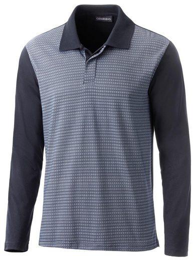 Langarm-Shirt mit Polokragen