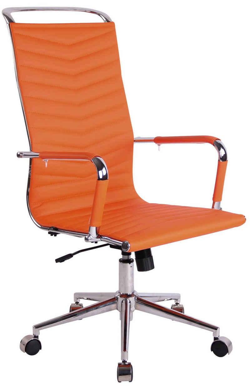 CLP Schreibtischstuhl »Batley«, höhenverstellbar mit Kunstleder oder Echtlederbezug